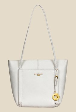 Da Milano White Leather Tote Bag