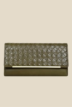Da Milano Green Textured Leather Wallet