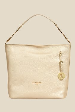 Da Milano Gold Leather Shoulder Bag