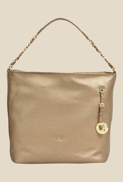 Da Milano Gold Leather Shoulder Bag