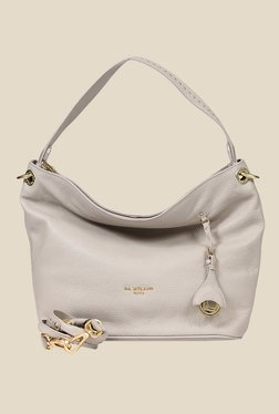 Da Milano Ivory Leather Shoulder Bag