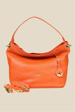 Da Milano Orange Leather Shoulder Bag