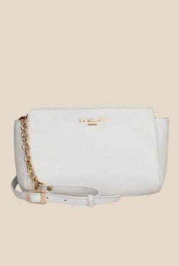 Da Milano White Leather Sling Bag