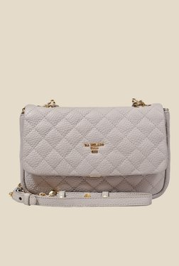 Da Milano Ivory Quilted Leather Sling Bag