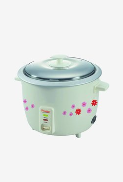 Prestige PRWO 1.8-2 700 W 1.8 L Rice Cooker (White)
