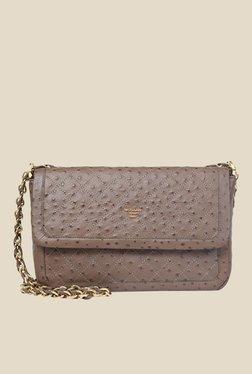 Da Milano Taupe Leather Sling Bag