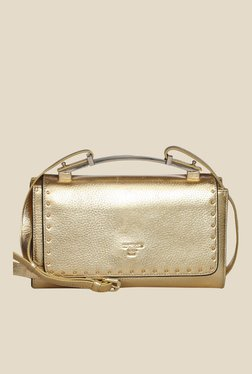 Da Milano Gold Leather Sling Bag - Mp000000000689229