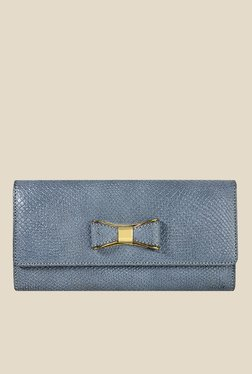 Da Milano Blue Textured Leather Wallet - Mp000000000689263