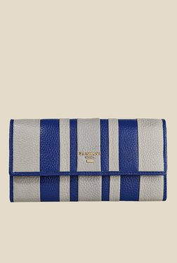 Da Milano Blue Leather Wallet