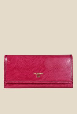 Da Milano Fuschia Textured Leather Wallet