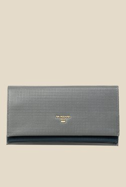 Da Milano Grey Textured Leather Wallet