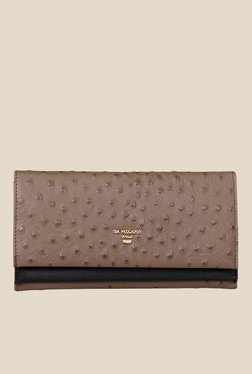 Da Milano Taupe Textured Leather Wallet