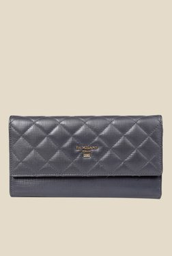 Da Milano Grey Leather Wallet