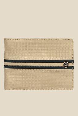 Da Milano Beige Textured Leather Wallet