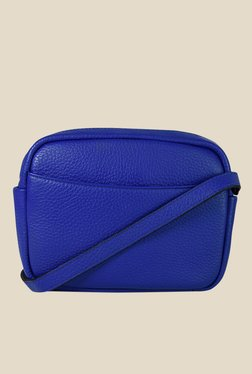 Da Milano Royal Blue Leather Sling Bag
