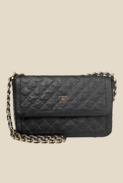 Da Milano Black Leather Sling Bag