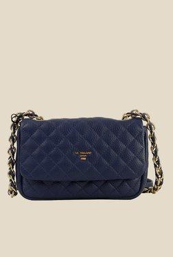 Da Milano Royal Blue Leather Sling Bag - Mp000000000689464