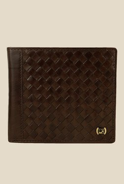 Da Milano Brown Textured Leather Wallet - Mp000000000689501