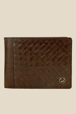 Da Milano Brown Textured Leather Wallet - Mp000000000689512
