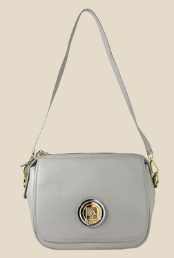 Da Milano Ivory Leather Sling Bag