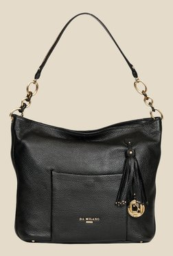 Da Milano Black Leather Shoulder Bag