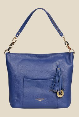 Da Milano Royal Blue Leather Shoulder Bag
