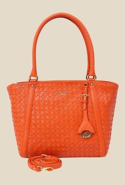 Da Milano Orange Leather Shoulder Bag