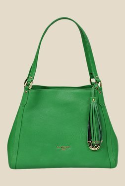 Da Milano Green Leather Shoulder Bag