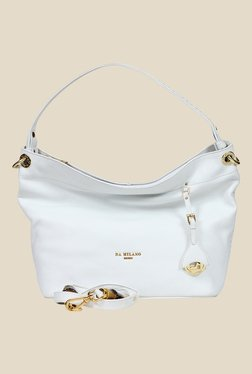 Da Milano White Leather Shoulder Bag
