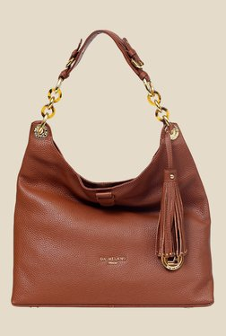 Da Milano Brown Leather Shoulder Bag