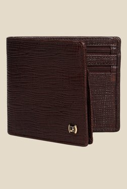 Da Milano Brown Textured Leather Wallet - Mp000000000689625