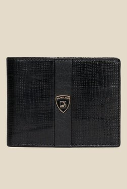 Da Milano Black Textured Leather Wallet - Mp000000000689642