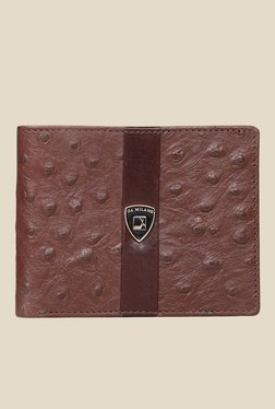 Da Milano Brown Textured Leather Wallet - Mp000000000689647