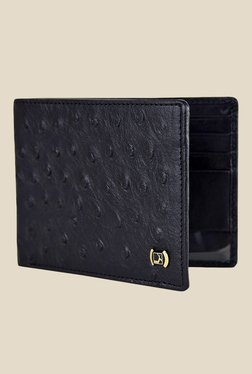 Da Milano Black Textured Leather Wallet - Mp000000000689652