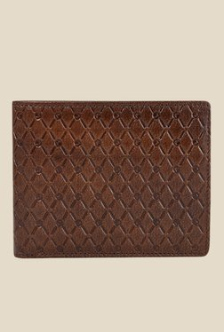 Da Milano Brown Textured Leather Wallet - Mp000000000689669