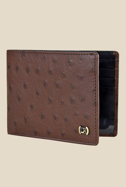 Da Milano Brown Textured Leather Wallet - Mp000000000689712
