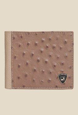 Da Milano Beige Textured Leather Wallet - Mp000000000689717