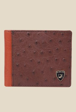 Da Milano Brown Textured Leather Wallet - Mp000000000689724
