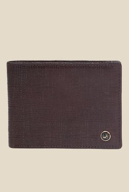 Da Milano Brown Textured Leather Wallet
