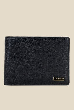 Da Milano Black Textured Leather Wallet - Mp000000000689853