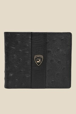 Da Milano Black Textured Leather Wallet - Mp000000000689888