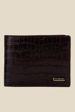 Da Milano Brown Textured Leather Wallet - Mp000000000689915