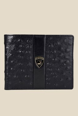 Da Milano Black Textured Leather Wallet - Mp000000000689927