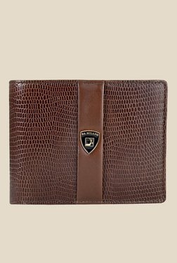 Da Milano Brown Textured Leather Wallet - Mp000000000689931