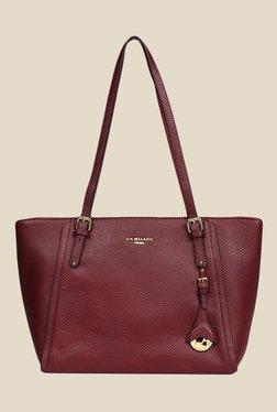 Da Milano Berry Leather Tote Bag - Mp000000000690000