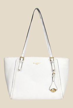Da Milano White Leather Tote Bag - Mp000000000690045