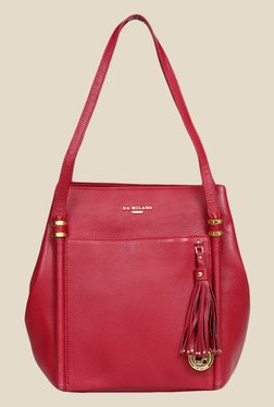 Da Milano Berry Leather Tote Bag - Mp000000000690051