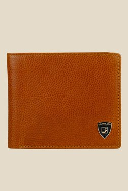 Da Milano Tan Textured Leather Wallet