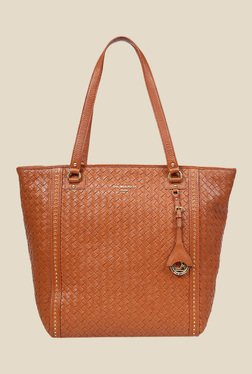 Da Milano Con Textured Leather Tote Bag