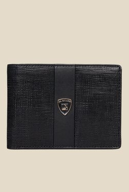 Da Milano Black Textured Leather Wallet - Mp000000000690103